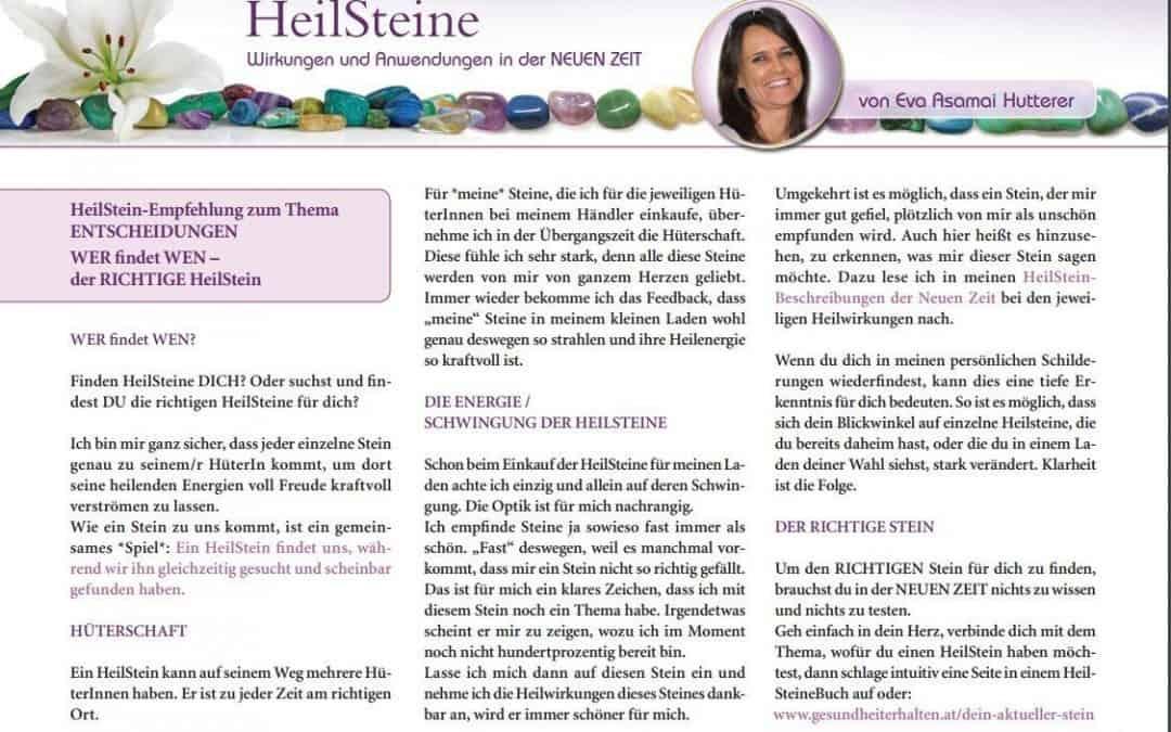MYSTIKUM 07/17: HeilSteine – Wirkungen und Anwendungen in der NEUEN ZEIT