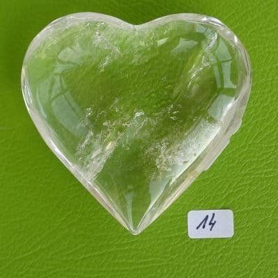 Bergkristall-Herz mit aktivierter Kristall-Licht-Energie Nr. 14