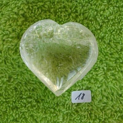 Bergkristall-Herz mit aktivierter Kristall-Licht-Energie Nr. 18