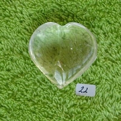 Bergkristall-Herz mit aktivierter Kristall-Licht-Energie Nr. 22