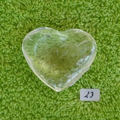 Bergkristall-Herz mit aktivierter Kristall-Licht-Energie Nr. 23
