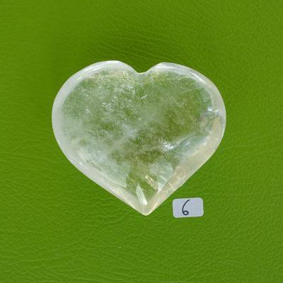 Bergkristall-Herz mit aktivierter Kristall-Licht-Energie Nr. 6